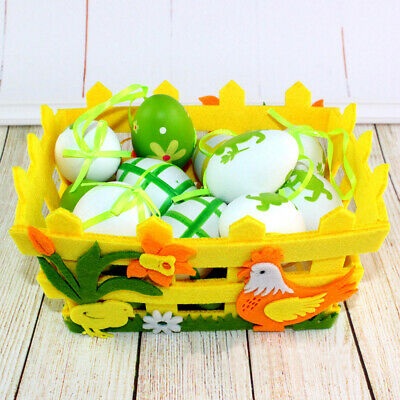 1pc Easter Basket Square Decorative Basket Gift for Home Easter Party Decoration