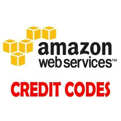 $40 Amazon Web Service (AWS) Credit Codes