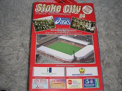 Stoke City v West Bromwich Albion 1997 last league match at The Victoria Ground