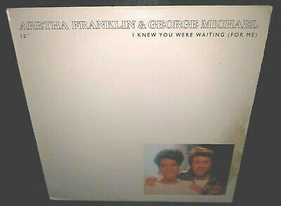 """Aretha Franklin & George Michael, I Knew You Were Waiting For Me 12"""" SINGLE VG+"""