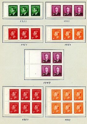 Weeda Canada 232b//405a MH and used KGVI-QEII Booklet pane collection CV $182.25