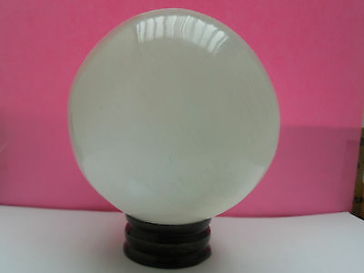 """4.5""""  SELENITE CRYSTAL SPHERE and STAND 4.4 Lb.;Metaphysical;wicca #7"""