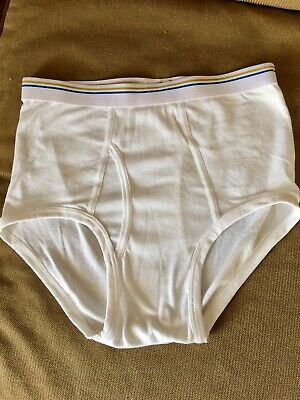 c17a355aaa6 VINTAGE UNDERWEAR J C Penney white waistband white full cut brief 34 ...