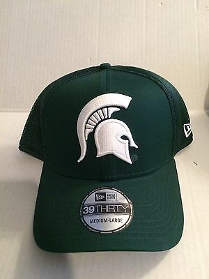 MICHIGAN STATE SPARTANS New Era 39Thirty Mega Team Stretch fit hat S ... 773ac4ac5