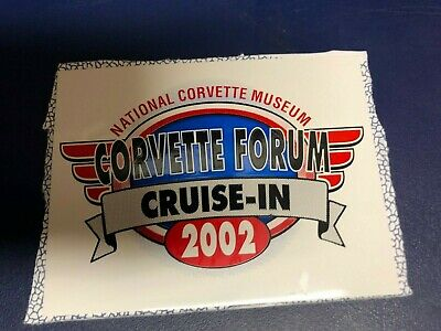 "2002 National Corvette Museum Forum "" Annual Cruise-in "" Glove Box Plaque!"