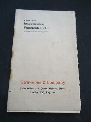 Strawsons &co Insecticides Fungicides Etc  Catalogue Vintage Gardening 1909