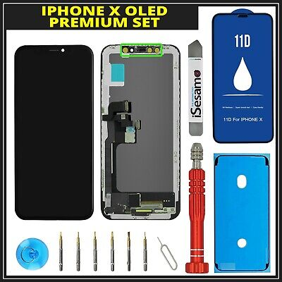 OLED iPhone X 10 LCD Display 3D Touchscreen wie Original + Premium Set
