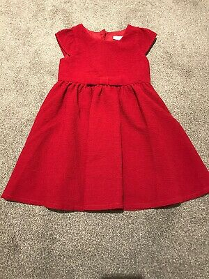 18-24 Months Girls Next Red Dress Ideal For Party's And Christmas