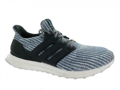 2baa638f70f Men s Adidas UltraBoost Parley BC0248 Running Shoes Cloud White Blue Size 9