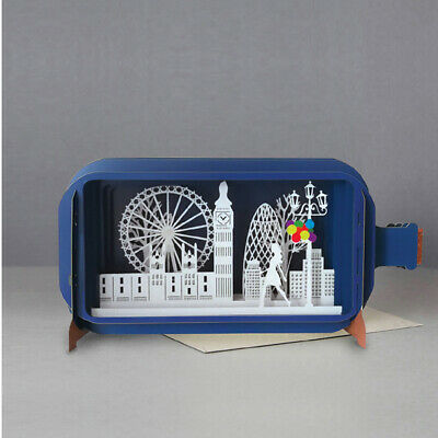 Message In A Bottle 3D Pop Up Greeting Card - London Skyline MIB018