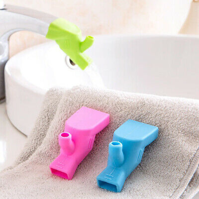 1Pc Silicone Bathroom Sink Faucet Extender For Baby Kid Toddler Hand Washing UK