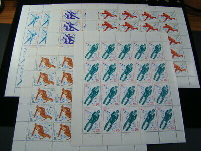 Russia Scott #4807-4811 Scarce 1980 Mini Sheets Of 20 W/Folder MNH O.G. Nice!!