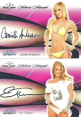 Two 2008 Bench Warmer Signature Series Autos - Camille Anderson & Erin Tietsort
