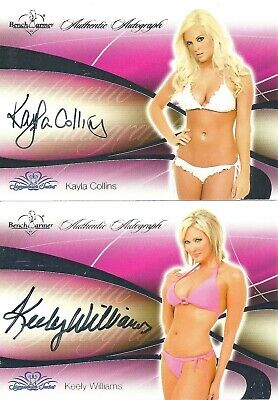 Two 2008 Bench Warmer Signature Series Autos - Kayla Collins & Keely Williams