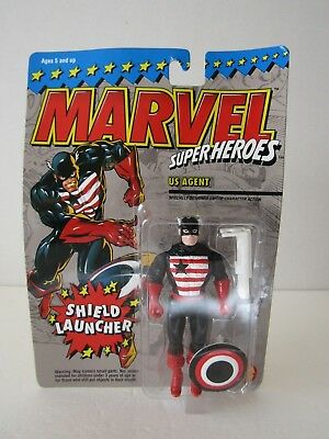 1994 Toybiz Marvel Super Heroes Us Agent With Shield Launcher Action Figure