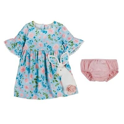 Mud Pie E9 Baby Girl Easter Bunny Dress 15000016 Choose Size