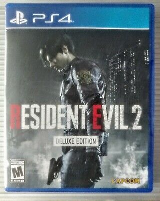 Resident Evil 2 Remake Deluxe Edition PS4. Sony Playstation 4. DLC Is Used.