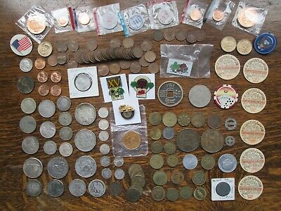 JUNK DRAWER LOT; US Silver World Silver Coins Tokens Wheat IH Cents 8.80 oz Silv
