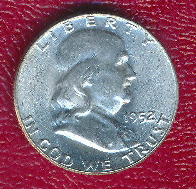 1952 Franklin Silver Half Dollar **choice Brilliant Uncirculated** Free Shipping