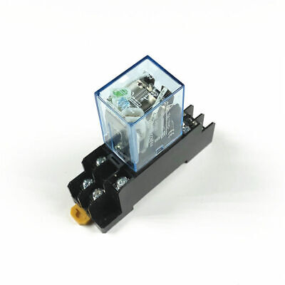 LY2NJ AC 220V DC12V Coil Power Relays 8Pin 10A DPDT HH62P HHC68A-2Z Socket Bases