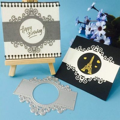 Lace Round Metal Cutting Dies Stencil Scrapbooking Card Paper Embossing Craft