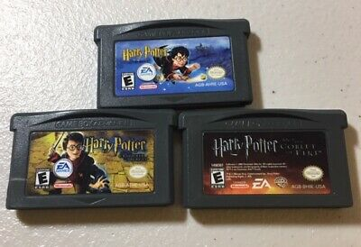 Nintendo Gameboy Advance games lot of 3 Harry Potter by EA games