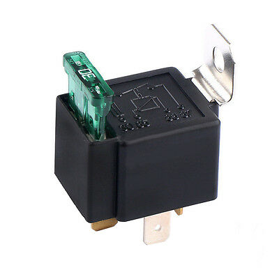 12V 30A Car Motor Heavy Duty Relay 4Pin Fuse On/Off SPST Metal Sales