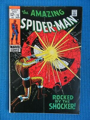 Amazing Spider-Man # 72 - (Fn-) -  Rocked By The Shocker - Gwen Stacy