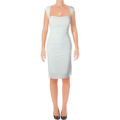 Laundry by Shelli Segal Womens White Ruched Party Cocktail Dress 6 BHFO 5180