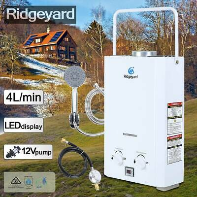 Ridgeyard Portable Water Heater Shower Camping RV LPG Outdoor Instant Boiler