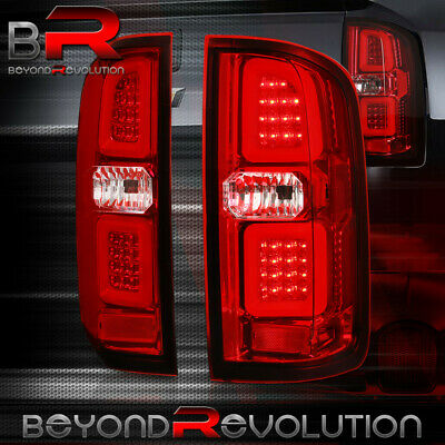 Red Phantom Style LED Tube Tail Lights For 2015 2016 2017 2018 Colorado Canyon