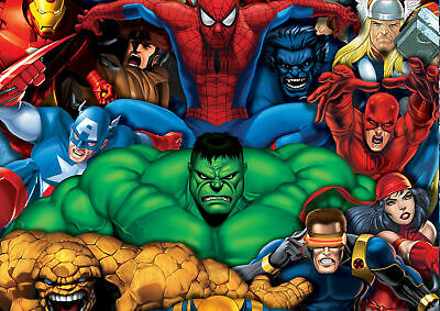 G-054 Marvel Super Hero Characters Giant Fabric Poster 12x18 24x36 27x40