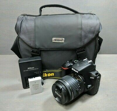 Nikon D3500 Kit AF-P DX 18-55mm f/3.5-5.6G VR Lens Digital SLR Camera - Black