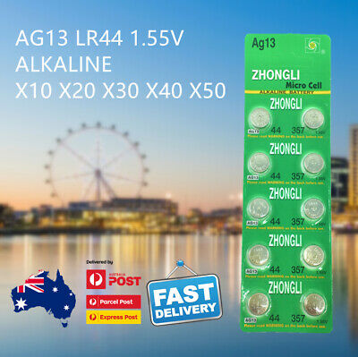 AG13 44 LR44 A76 357 1.55V Button Coin Cell Alkaline Battery AU Free Shipping