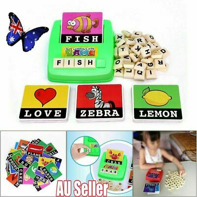Literacy Scrabbler Early Education Puzzle Toys Gift !R
