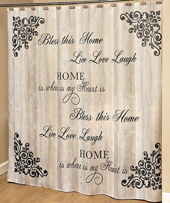 1 Shower Curtain Country Farmhouse Live Love Laugh Bless Home Bathroom
