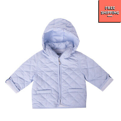 MIGNOLO Quilted Jacket Size 6-9M / 68-74 CM Detachable Hood Collared