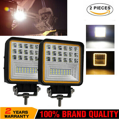 480W 12V 24V LED Work Light Offroad Flood Lamp Square Floodlight Truck Boat Bar