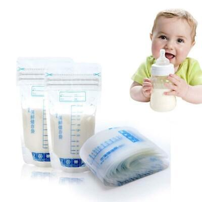 30Pcs 250ml Baby Breast Milk Food Freezing Storage Bags Safe Feeding Seal Pouch
