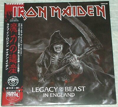"""IRON MAIDEN """"Legacy of the Beast in England"""", UK, London, Aug. 2018, 2LP, CV, GF"""