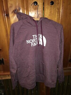 04756179b THE NORTH FACE Trivert Gold Foil Logo Purple Hoodie Women Size XL ...