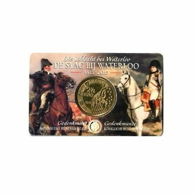2,50 Euro Belgien 2015 WATERLOO in offizieller Original Coincard