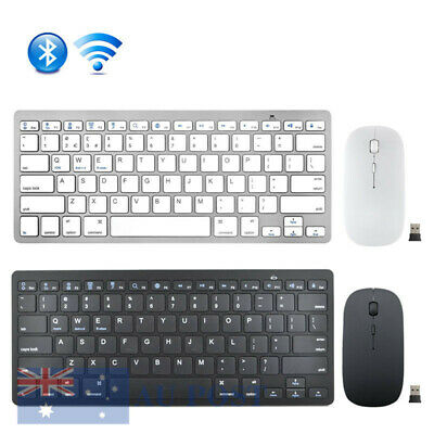 Bluetooth Keyboard and Wireless 2.4G USB Mouse Set For Windows Laptop MAC AU