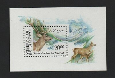 Uzbekistan 1993 Animals (Red Deer) M/sheet *vf Mnh*