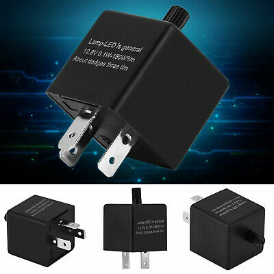 3 Pin Fully Electronic LED Flasher Hazard Relay For CLASSIC CARS