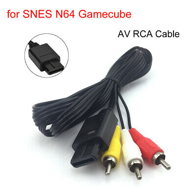 AV Converter Adapter for Nintendo SNES Game Console to 3RCA Audio Video TV Cable