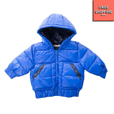 BILLYBANDIT Quilted Jacket Size 6M Padded Elasticated Cuffs Full Zip Hooded