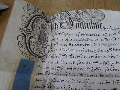 1734 King George III Vellum Indenture Manuscript Ref#8