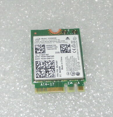 Intel 3165ngw Wi-Fi + BT4.0 WLAN Card Lenovo 00jt497