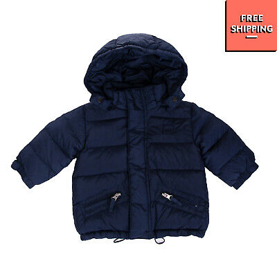 ADD Down Quilted Jacket Size 6M Detachable Hood Drawcord Hem Funnel Neck